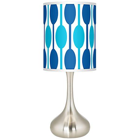 Jet Set Giclee Kiss Table Lamp