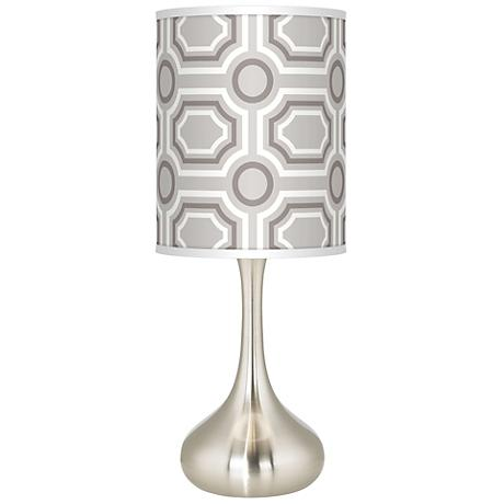 Luxe Tile Giclee Kiss Table Lamp