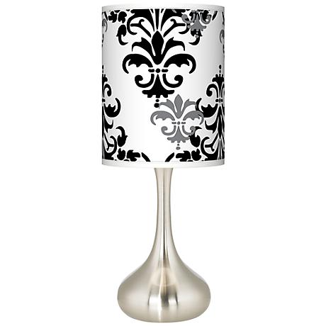 Damask Shadow Giclee Kiss Table Lamp