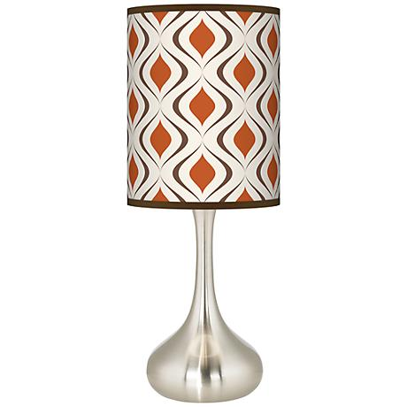 Retro Lattice Giclee Kiss Table Lamp