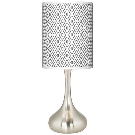 Diamonds Giclee Kiss Table Lamp