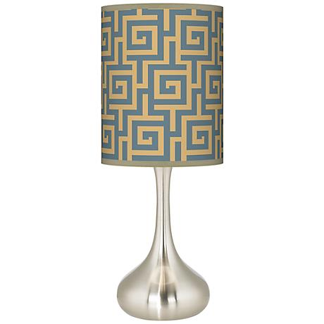 Greek Key Storm Giclee Kiss Table Lamp