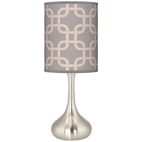 Smoke Lattice Giclee Kiss Table Lamp
