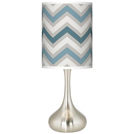 Wave Zig Zag Giclee Kiss Table Lamp