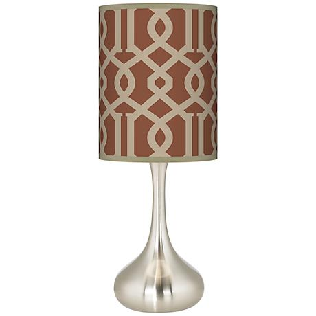 Sand Chain Reaction Giclee Droplet Table Lamp
