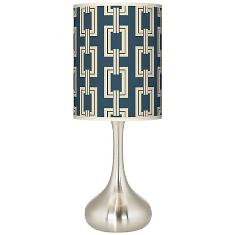 Chain Links Vanilla Giclee Kiss Table Lamp