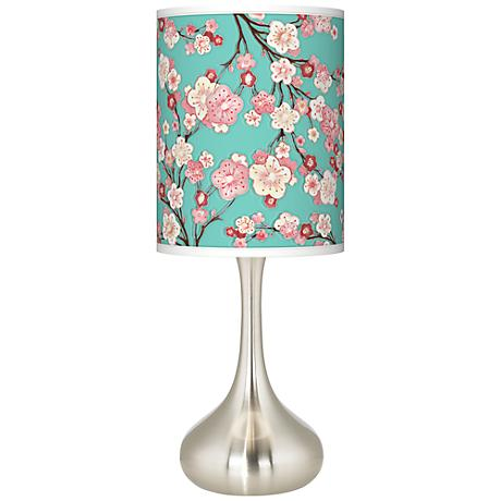 Cherry Blossoms Giclee Kiss Table Lamp