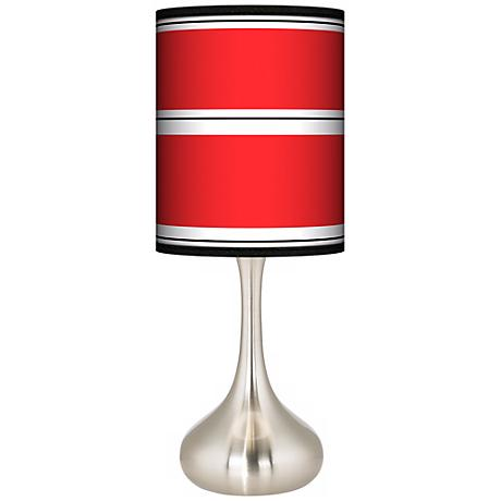Red Stripes Giclee Kiss Table Lamp