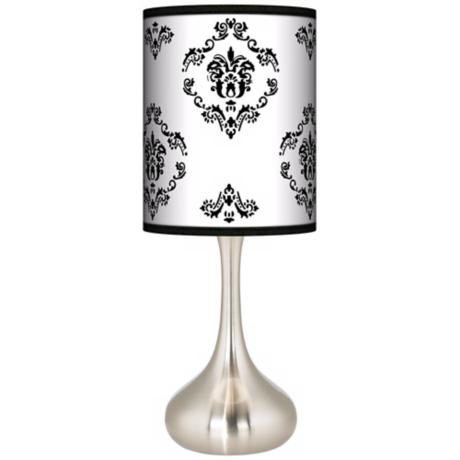 French Crest Giclee Kiss Table Lamp
