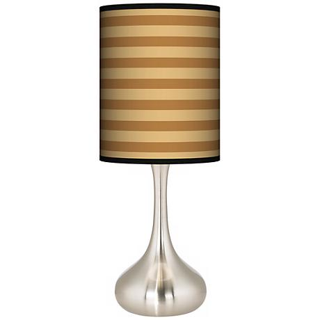 Butterscotch Parallels Giclee Kiss Table Lamp