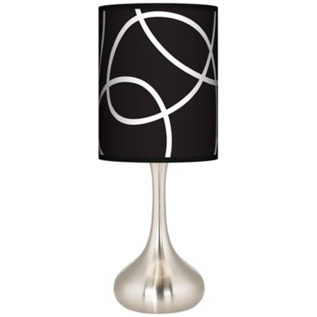 Abstract Giclee Kiss Table Lamp
