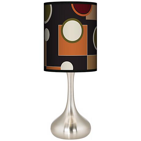 Retro Medley Giclee Droplet Table Lamp