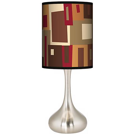 Earth Palette Giclee Kiss Table Lamp