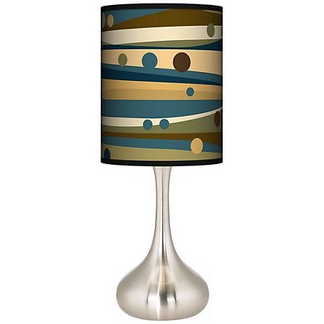 Dots & Waves Giclee Kiss Table Lamp