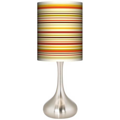 Stacy Garcia Lemongrass Stripe Giclee Kiss Table Lamp