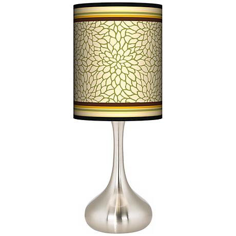 Stacy Garcia Avocado Dahlia Giclee Kiss Table Lamp
