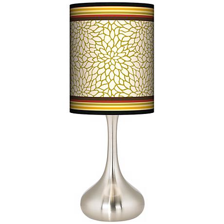 Stacy Garcia Spice Dahlia Giclee Kiss Table Lamp