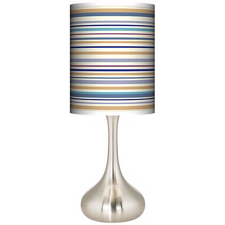 Stacy Garcia Landscape Stripe Giclee Kiss Table Lamp