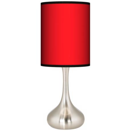 All Red Giclee Kiss Table Lamp