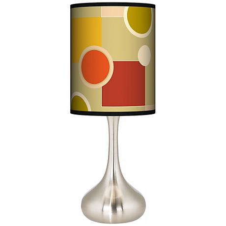 Retro Citrus Medley Giclee Kiss Table Lamp