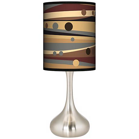 Natural Dots & Waves Giclee Kiss Table Lamp
