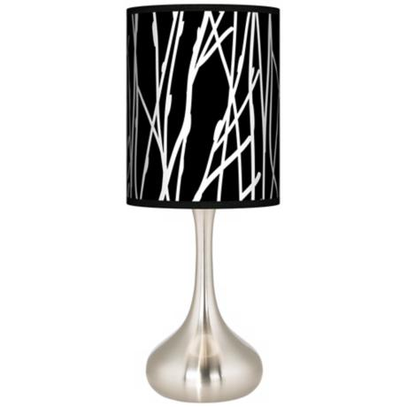 Stacy Garcia Twiggy Black Giclee Kiss Table Lamp