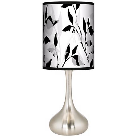 Three-Tone Leaves Giclee Kiss Table Lamp