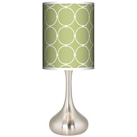 Spring Interlace Giclee Kiss Table Lamp