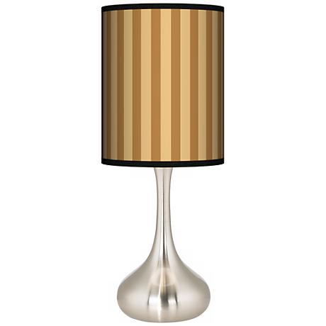 Butterscotch Vertical Giclee Kiss Table Lamp