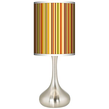 Stacy Garcia Harvest Vertical Stripe Giclee Kiss Table Lamp