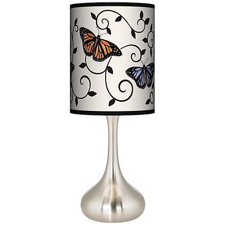 Butterfly Scroll Giclee Kiss Table Lamp