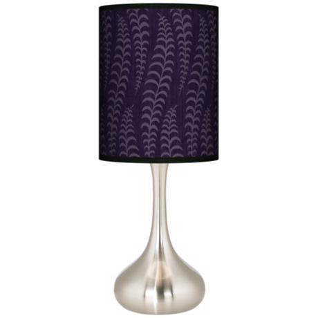 Stacy Garcia Fancy Fern Rich Plum Giclee Kiss Table Lamp