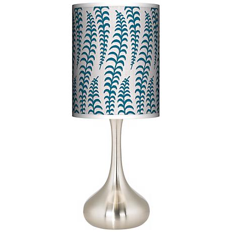 Stacy Garcia Fancy Fern Peacock Giclee Kiss Table Lamp