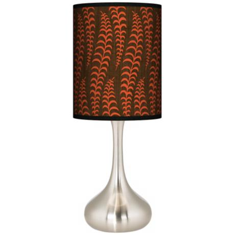 Stacy Garcia Fancy Fern Coral Giclee Kiss Table Lamp
