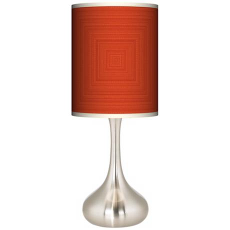Stacy Garcia Crackled Square Coral Giclee Kiss Table Lamp