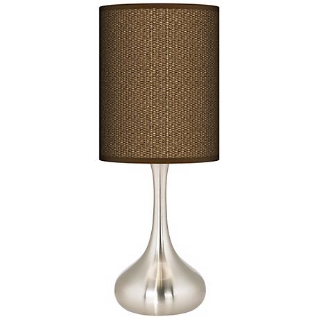 Khaki Giclee Kiss Table Lamp