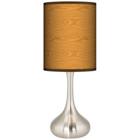 Wood Grain Giclee Kiss Table Lamp