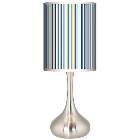 Stacy Garcia Cabana Stripe Giclee Kiss Table Lamp
