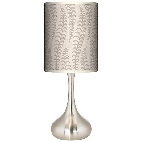 Stacy Garcia Fancy Fern Ice Giclee Droplet Table Lamp