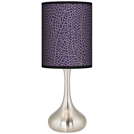 Stacy Garcia Seafan Rich Plum Giclee Kiss Table Lamp
