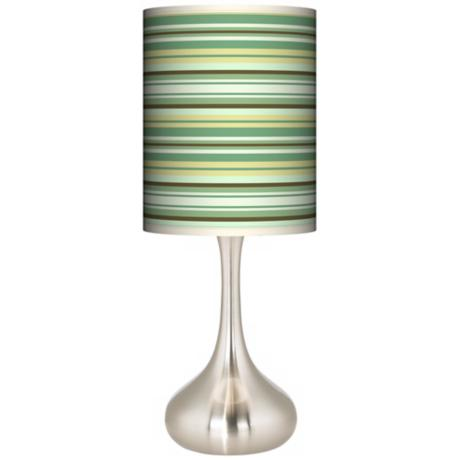 Lexington Stripe Giclee Kiss Table Lamp