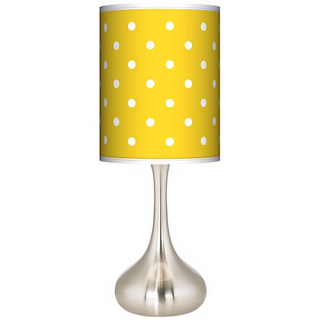 Mini Dots Yellow Giclee Kiss Table Lamp