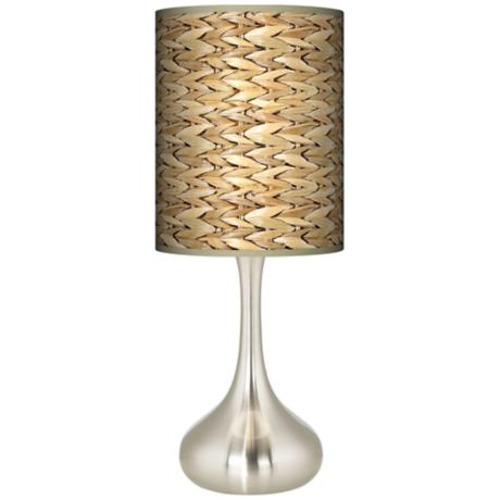 Seagrass Giclee Kiss Table Lamp
