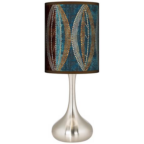 Stacy Garcia Pearl Leaf Peacock Giclee Kiss Table Lamp