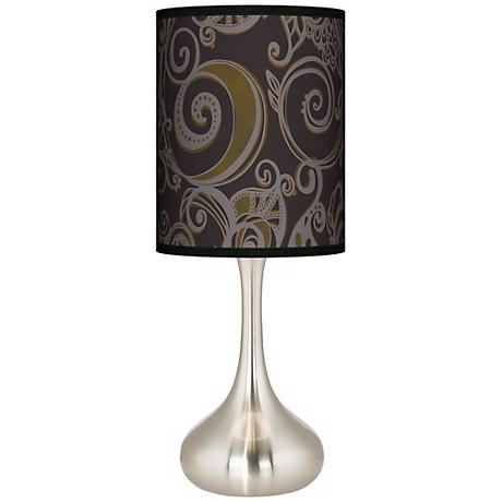 Stacy Garcia Ornament Metal Giclee Kiss Table Lamp