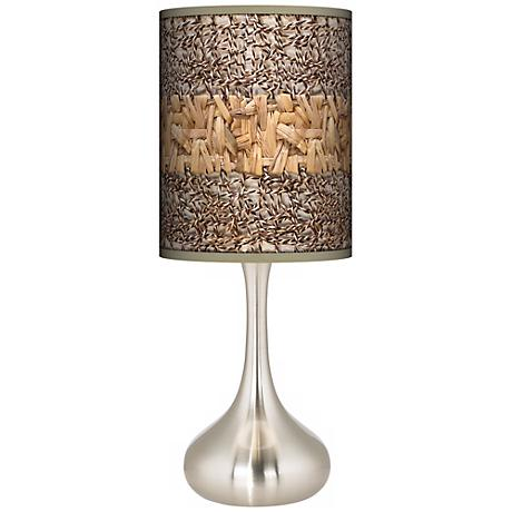 Woven Fundamentals Giclee Kiss Table Lamp