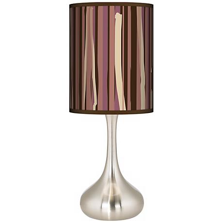 Kalahari Lines Giclee Kiss Table Lamp