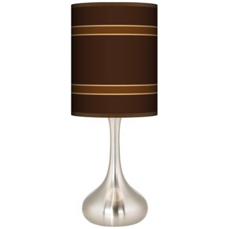Saratoga Stripe Giclee Kiss Table Lamp