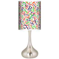 Alphasoup Primary Giclee Kiss Table Lamp