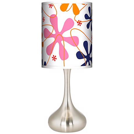Retro Pink Giclee Kiss Table Lamp